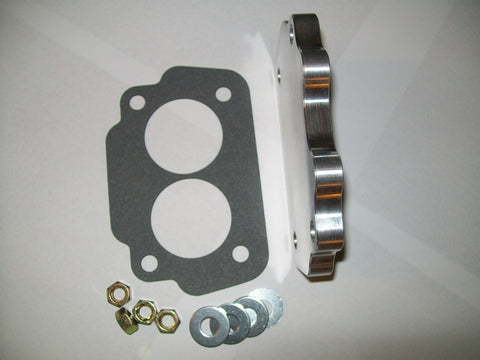 "7/16"" thick aluminum block off plate for front or rear carburetors"
