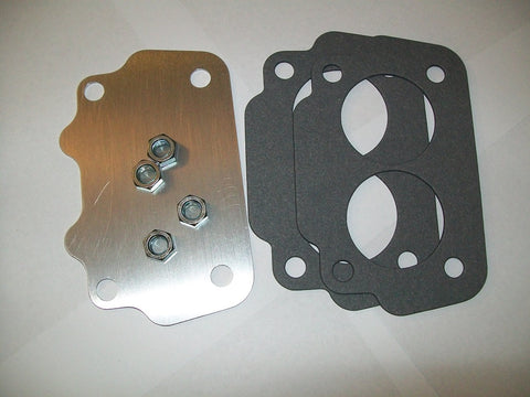 Large Carburetor Intake Block Off Plate and Gasket
