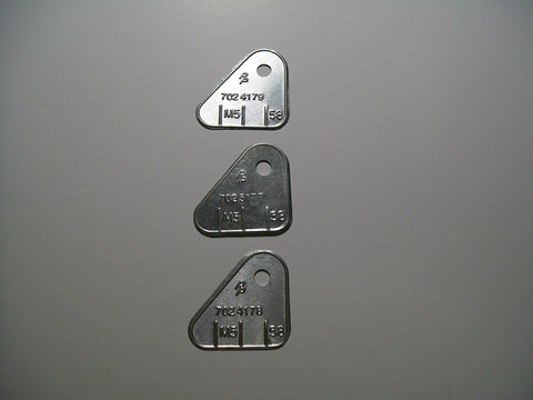 Tri-Power Carburetor ID Tags 1964,1965, and 1966