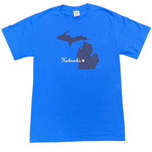 Blue Unisex Michigan T-Shirt