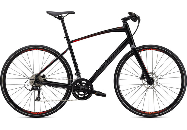 2021 Specialized Sirrus 3.0 Gloss Cast Black / Rocket Red / Satin Black Reflective XL
