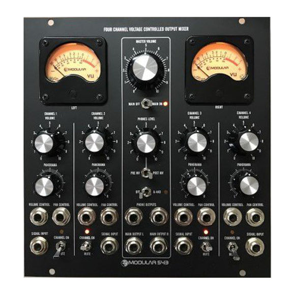 Moon Modular - 543: Four Channel Voice Controlled Output Mixer