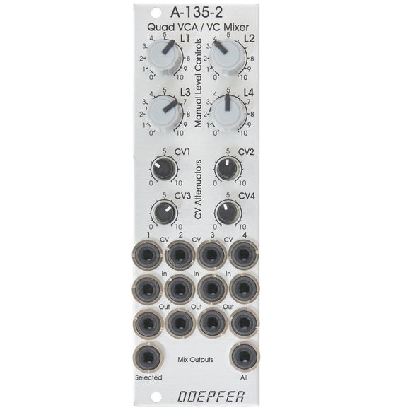 Doepfer - a-135-2: Quad VCA / Voltage Controller Mixer