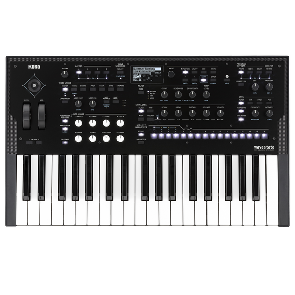 Korg Wavestate Sequencing 37-Key Synthesizer w/ 64 Stereo Voices
