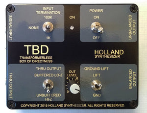 Holland Synthesizer - TBD (Transformerless Box of Directness)