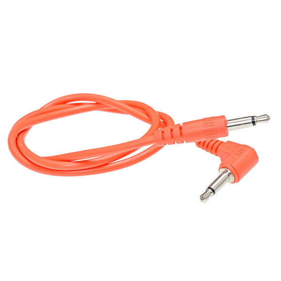 Doepfer - A-100C50A Orange Angled to Straight Eurorack Patch Cable: 50cm
