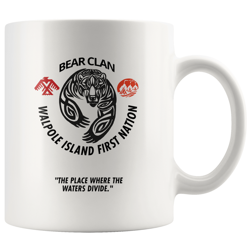 Bkejwanong Nation - Bear Clan Mug Bkejwanong Nation - Bear Clan Mug Drinkware - TuWillows