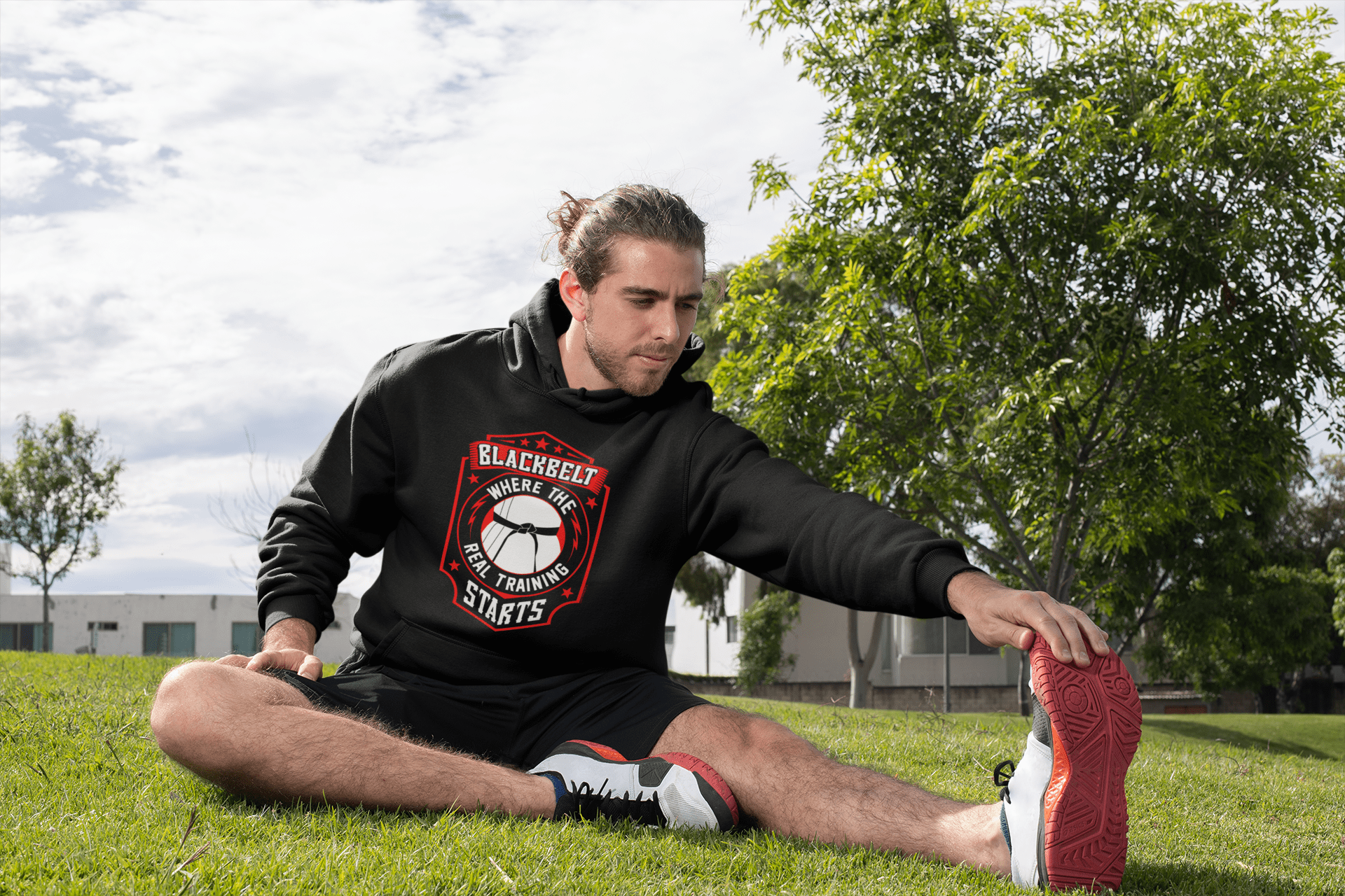Blackbelt is Where the Real Training Starts - Budo Hoodie T-shirt - TuWillows