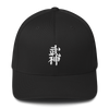 Bujinkan Kanji - Black - Structured Twill Cap S/M Bujinkan Hat - TuWillows