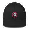 Bujinkan Kanji in a Pink Circle - Structured Twill Cap S/M Bujinkan Hat - TuWillows