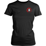 Bujinkan Kanji in an Incomplete Red Circle - Bujinkan Tshirt & Hoodie District Womens Shirt / XS T-shirt - TuWillows