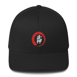 Bujinkan Kanji in an Incomplete Red Circle - Structured Twill Cap S/M Bujinkan Hat - TuWillows