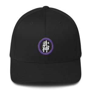 Bujinkan Kanji in Purple Circle - Structured Twill Cap S/M Bujinkan Hat - TuWillows