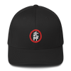 Bujinkan Kanji in Red Circle - Structured Twill Cap S/M Bujinkan Hat - TuWillows
