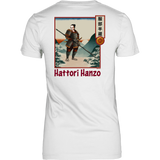 Hattori Hanzo - Famous Ninja Tshirt & Hoodie District Womens Shirt / White / XS T-shirt - TuWillows