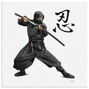Ninja - Canvas Art 8 x 8 Canvas Wall Art 3 - TuWillows