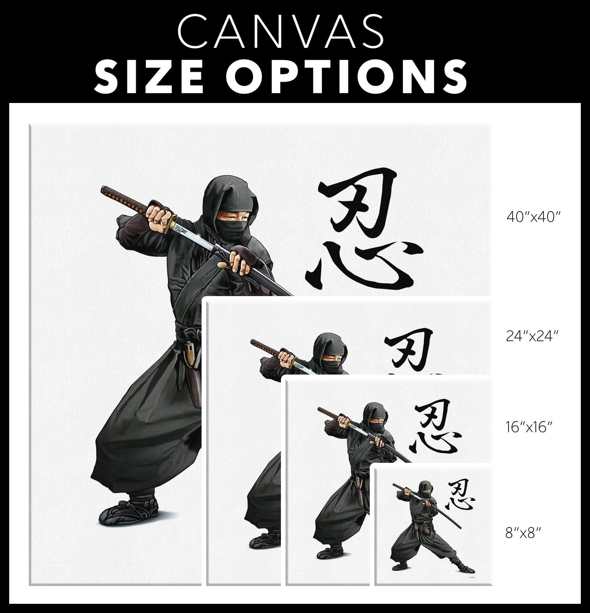Ninja - Canvas Art Canvas Wall Art 3 - TuWillows