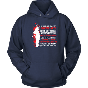 Old Style Martial Arts - Budo Hoodie Unisex Hoodie / Navy / S T-shirt - TuWillows