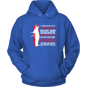 Old Style Martial Arts - Budo Hoodie Unisex Hoodie / Royal Blue / S T-shirt - TuWillows