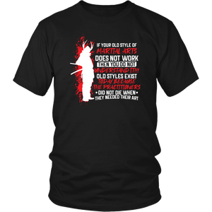 Old Style Martial Arts District Unisex Shirt / Black / S T-shirt - TuWillows