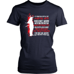 Old Style Martial Arts District Womens Shirt / Navy / XS T-shirt - TuWillows