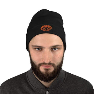 Three Fires - Embroidered Beanie Black - TuWillows