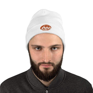 Three Fires - Embroidered Beanie White - TuWillows