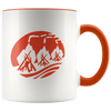 Three Fires Mug 11oz Orange Drinkware - TuWillows