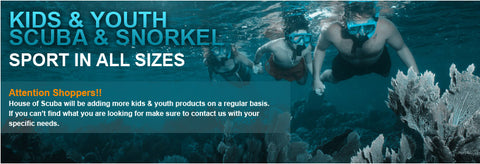 House of Scuba - Kids & Youth Scuba and Snorkel Gear