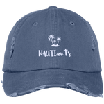 Blue Embroidered Distressed Baseball Cap Beachwear - Multiple Color Options - NAUTIarts