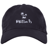 Embroidered Brushed Twill Unstructured Baseball Cap - Multiple Color Options - Navy - Beachwear - NAUTIarts