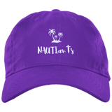 Embroidered Brushed Twill Unstructured Baseball Cap - Multiple Color Options - Purple - Beachwear NAUTIarts