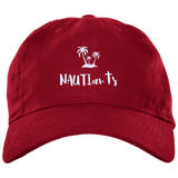 Embroidered Brushed Twill Unstructured Baseball Cap - Multiple Color Options - Red - Beachwear - NAUTIarts
