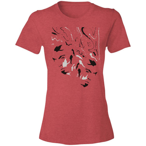 Open-Minded Womens Graphic Lightweight T Shirt Beachwear - Red Front Image - NAUTIarts