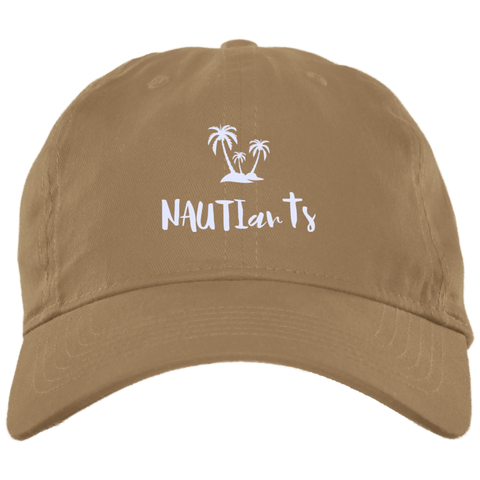 Embroidered Brushed Twill Unstructured Baseball Cap - Multiple Color Options - Beachwear - Khaki - NAUTIarts