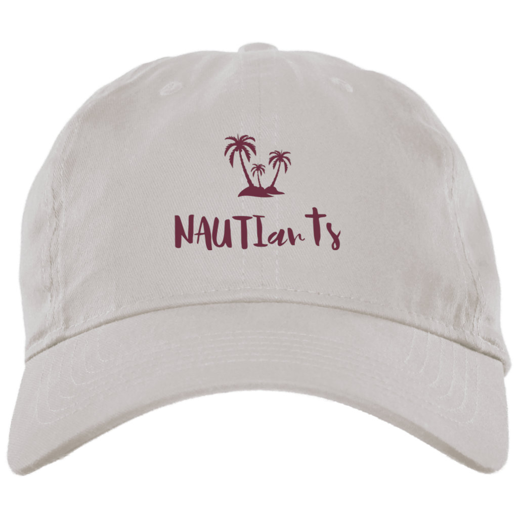 NAUTIarts Embroidered White Brushed Twill Unstructured Dad White Cap