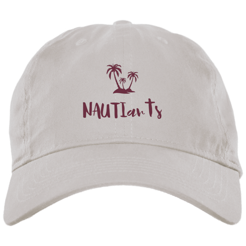 Embroidered Brushed Twill Unstructured Baseball White Cap - Beachwear - NAUTIarts