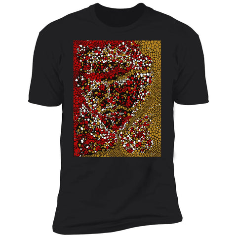 Dot Face Mens and Womens Graphic DK UNISEX Premium Short Sleeve T Shirt - Black Front - NAUTIarts