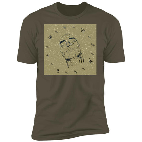 Pull Your True Identity Mens Womens Graphic UNISEX Premium Short Sleeve T Shirt - Military Green Front Image - beachwear - NAUTIarts
