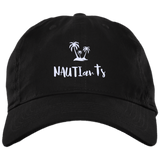 Embroidered Brushed Twill Unstructured Baseball Cap - Beachwear - Multiple Color Options - Black -NAUTIarts