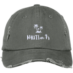 Olive Embroidered Distressed Baseball Cap - Multiple Color Options - Beachwear - NAUTIarts