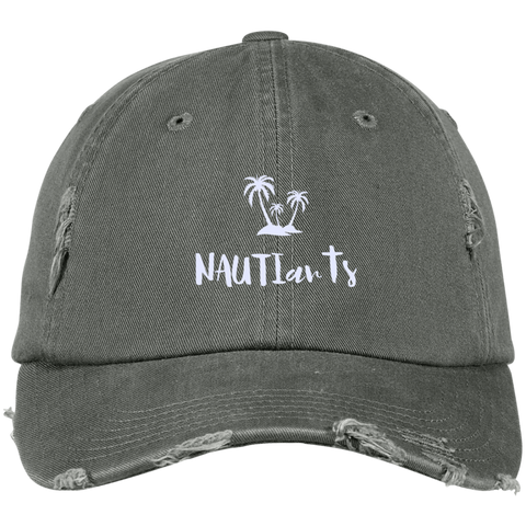 NAUTIart Embroidered Distressed Baseball Cap - Multiple Color Options