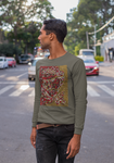Dot Face Mens and Womens Graphic DK UNISEX Premium Long Sleeve T Shirt - Multiple Color Options - NAUTIarts