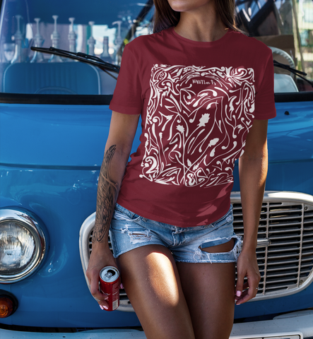 INV 70s Rose Mens Womens Graphic UNISEX Premium Short Sleeve T Shirt - image 7 - NAUTIarts