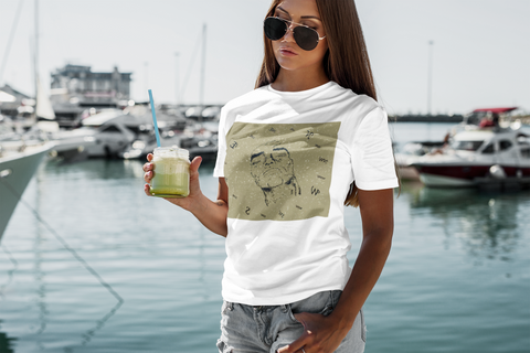 Pull Your True Identity Mens Womens Graphic UNISEX Premium Short Sleeve T Shirt - WHITE - beachwear - NAUTIarts