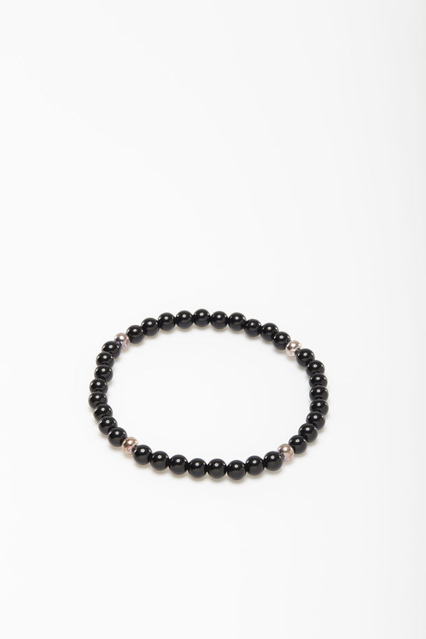 Black Agate Bead Bracelet from Curator of Crafts