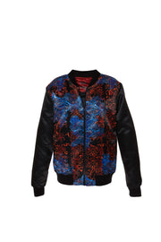 Karim Satin Bomber Jacket by Saima from Curator of Crafts