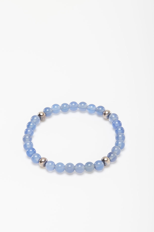 Blue Agate Bead Bracelet from Curator of Crafts