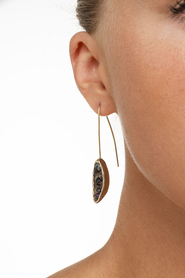 BRONZE POD EARRINGS