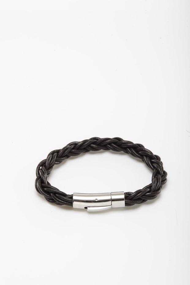 Braided Thick Cord Leather Wristlets from Curator of Crafts
